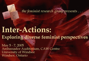 FRG program 2005 - Inter-Actions: Exploring diverse feminist perspectives