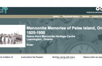 cover image from Mennonite Memories of Pelee Island online exhibit
