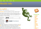 Screenshot of MuckleAdo.com&#039;s home page on May 19, 2012