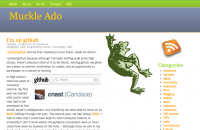 Screenshot of MuckleAdo.com's home page on May 19, 2012