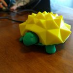 3d printed turtle with spikey top